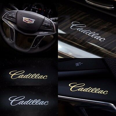 10pcs emblem interior car body metal sticker with logo for Cadillac XT5 SRX CTS