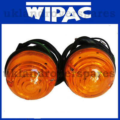 Land Rover Defender Front & Rear Indicator Lamps - New Pair Of Lamps Upto 1995