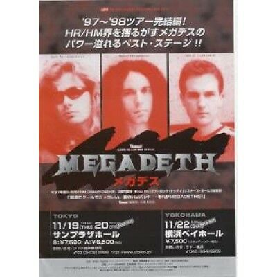 MEGADETH Cryptic Writings FLYER Japanese Promo Double Sided Flyer For Tour