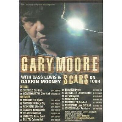 GARY MOORE Scars FLYER UK Sjm A5 Flyer For Tour