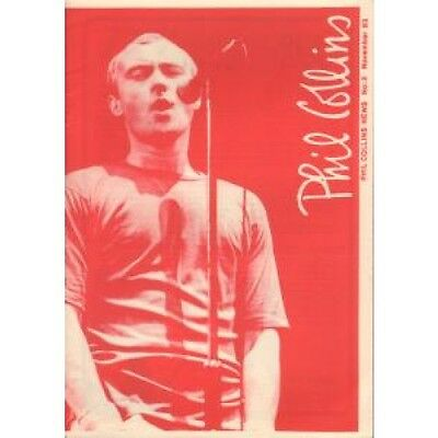 PHIL COLLINS News 3 FANZINE UK 1983 A5 Black And White Fanzine With Red