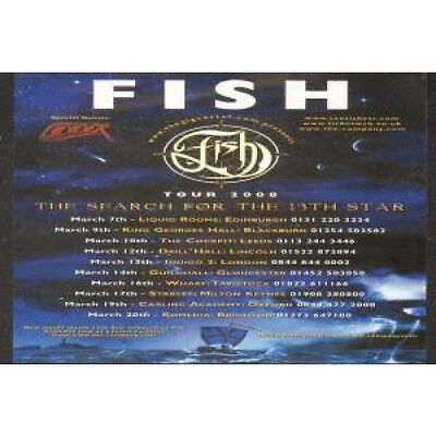 FISH Search For The 13Th Star FLYER UK Gig Cartel 2008 Double Sided Tour Flyer
