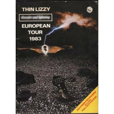 THIN LIZZY/MAMA'S BOYS Thunder And Lightning TOUR PROGRAMME UK 1983 European