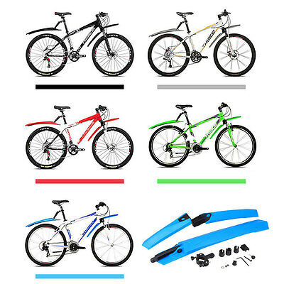 Front Rear Mudguards Face Fender Butt Fender For MTB Bicycle Road Bike Tire Kit