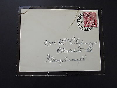 AUSTRALIA - 1d RED KGV ON OLD COVER TO MARYBROUGH 1917