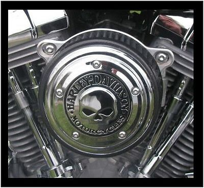 Cover Filtro Aria Harley Davidson Skull Dyna Softail Road King Electra Touring