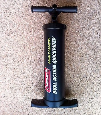 """Coleman Dual Action """"Quick"""" Hand Pump. Ideal for inflatable Boats Air Beds etc"""