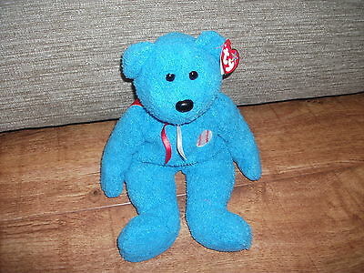 Ty Beanie Buddy Addison Baseball Bear 13""