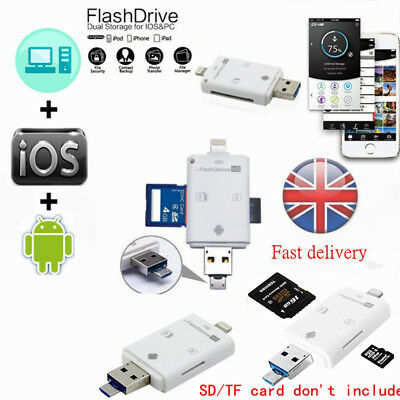 i-Flash Drive OTG Device USB Memory Stick Flash 64GB For iPhone 5S SE 6 IOS iPad