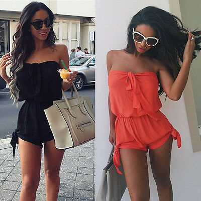 USA Women Summer Clubwear Sleeveless Playsuit Bodycon Party Jumpsuit&Romper