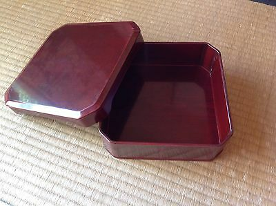 Japanese '50s Wooden Square Boxes
