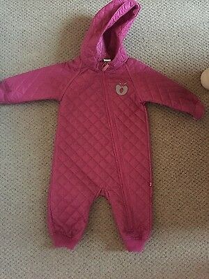smafolk girl baby all in one snow suit 6-12 months