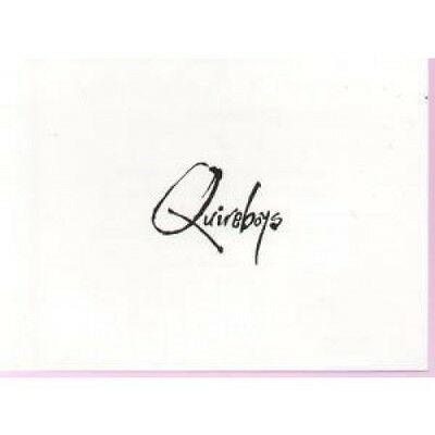 QUIREBOYS After Show Invite Hammersmith Odeon CARD UK Emi 1990 Band Logo Card