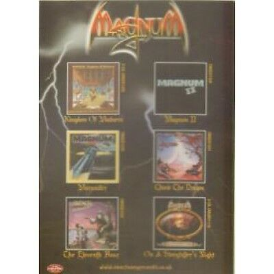 MAGNUM (METAL GROUP) Reissues CARD UK Castle Double Sided Promo Postcard