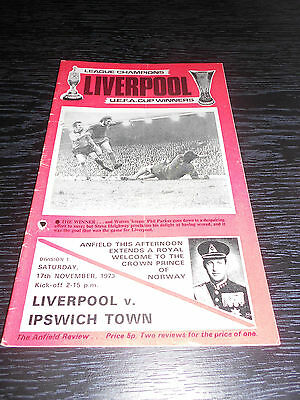Liverpool  Vs Ipswich Town 73/74 (Division 1)
