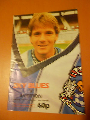 Coventry City Vs Everton (Champions) 86/87 (Division 1)