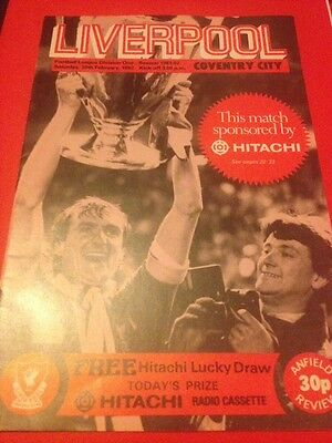 Liverpool (Champions) Vs Coventry City 81/82 (Division 1)