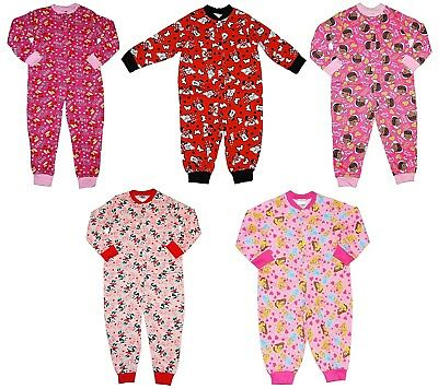 Girls All in One Pyjamas Minnie Mouse Doc McStuffin Angry Birds Disney Princess