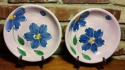 """TRE CI Pasta Bowl set of 2, 8 1/4"""", Earthenware, Italy, Hand Painted, Excellent"""