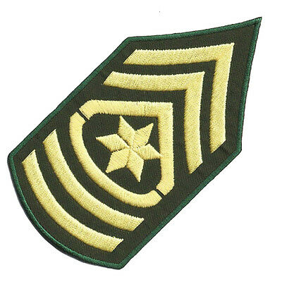 "PARCHE bordado en tela MILITARES/AIRSOFT ""SARGENTO MAYOR U.S."" EMBROIDERED PATCH"