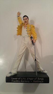 Freddie Mercury Official Statue Queen Collectible Hand Painted Figure 8.5''