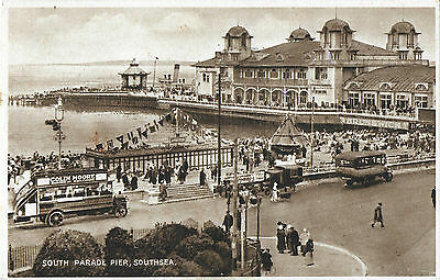RP Card SOUTHSEA SOUTH PARADE PIER - Posted 1934