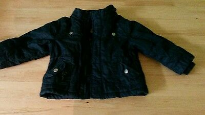 cherokee black padded jacket boys size 18 to 24 months