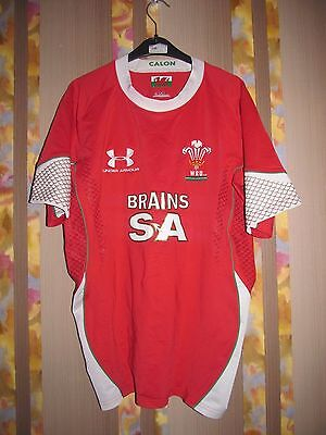 Rare Wales 2008-2009  Rugby Shirt L Jersey Under Armour