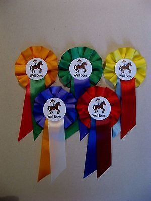 Pony Party/Horse Rosettes Mini Size Pack of 5