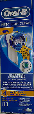 Oral B Precision Clean electric toothbrush replacement brush heads 4 heads''