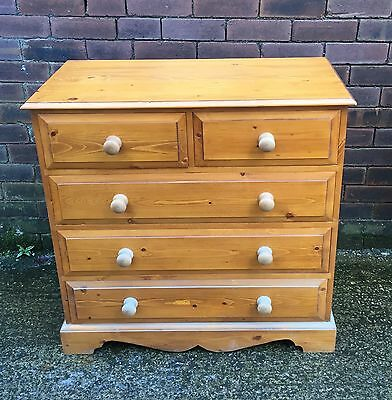 Beautiful Antique Style  Solid Pine Chest Of Drawers Rustic Farmhouse Shabbychic