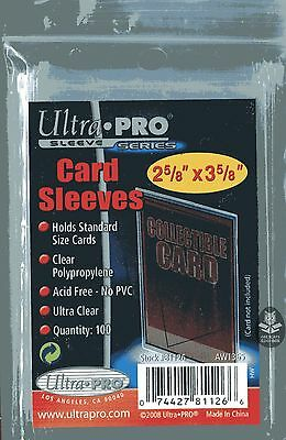 100 ULTRA PRO Karten Hüllen, Card Sleeves, 2 5/8 x 3 5/8