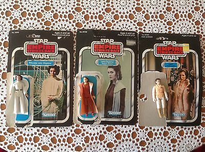 Star Wars Empire Strikes Back Princess Leia X 3 W/package! AUCTION NO RESERVE.