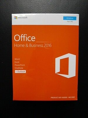 Microsoft Office Home and Business 2016 Word Excel Outlook PC/Windows T5D-02826