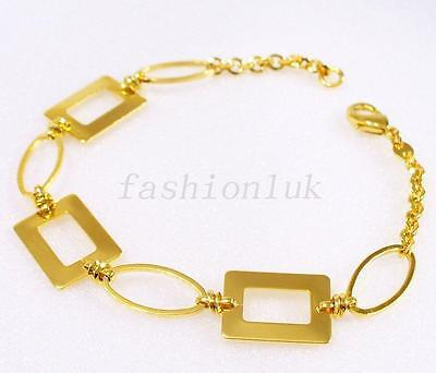 Yellow Rose White Gold Multi-Tone Plated 7.8 inches 20 cm Art Deco Bracelet