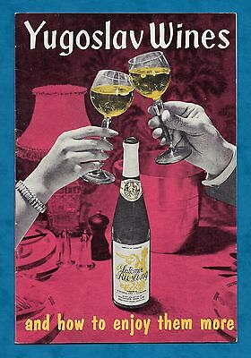 1960's Advertising Booklet For Yugoslav Wines  From Teltscher Brothers Ltd