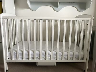 White Cot - John Lewis Anna Drop Side Cot