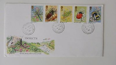 Gb First Day Cover ( Insects ) 1985