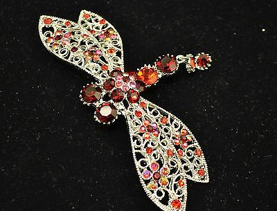 Vintage Dragonfly Style Brooches red multi color high quality Bouquet gift