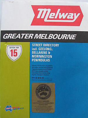 Melway street directory - Melbourne 1984 - Edition 15
