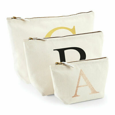 Personalised Make Up Wash Bag Any Letter Alphabet Kids Birthday Gift Present New