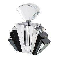 Large Art Deco Style Crystal Fan Perfume Scent Bottle New