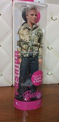 HTF  Fashion Fever Ken   Modern Trends Collection  tube container   Barbie doll