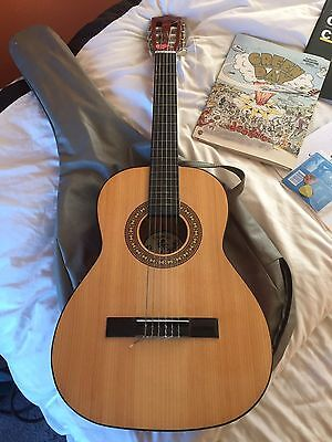 """Child's Guitar - 36"""" With Carry Case And Books."""