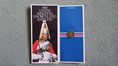 Royal Mint Presentation Folder with new £1 coin dated 1983