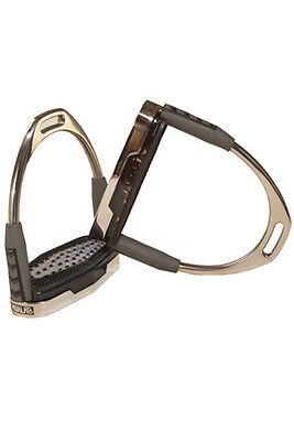 John Whitaker Air Irons-Stirrups-12cms - Stainless Steel Free P&P