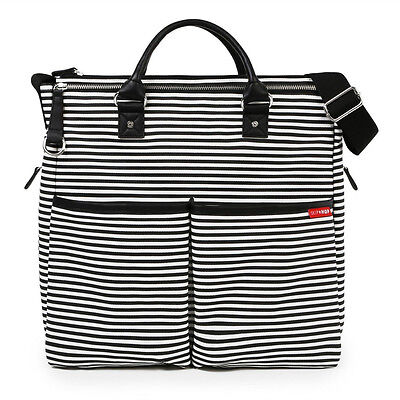 NEW Skip Hop Duo Special Edition Black Stripes Baby Changing Bag