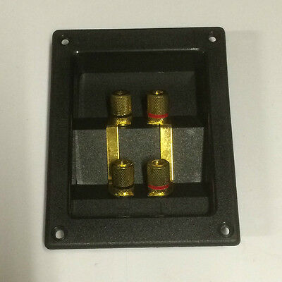 New Dual Speaker Box Terminal Gold Plated Connectors.122 x 95 x 27mm