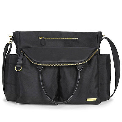 NEW Skip Hop Chelsea Downtown Chic Black Satchel Changing Bag
