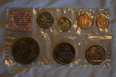 1969 New Zealand Cook Commemorative and 1967 Uncirculated Coin Sets